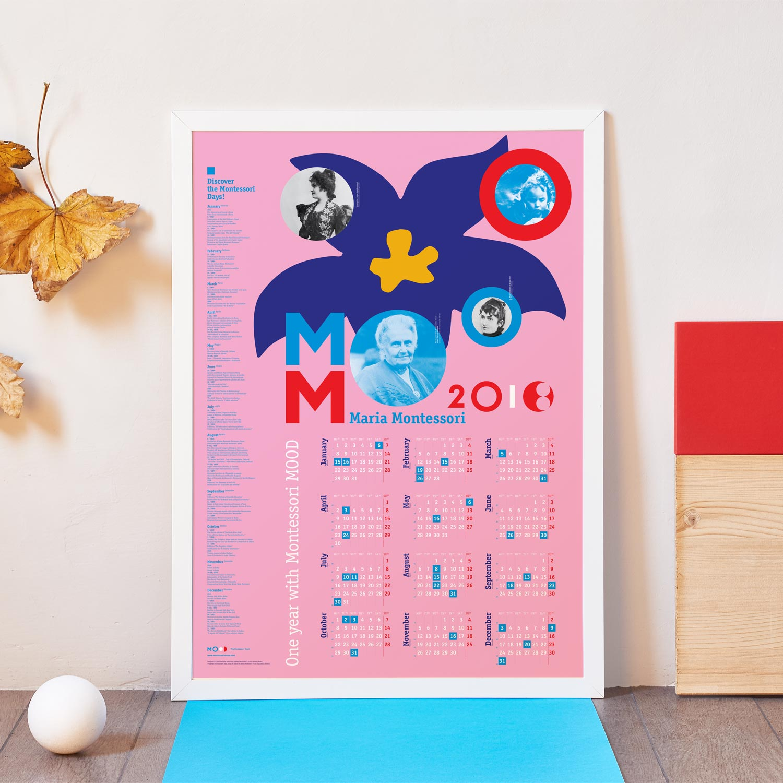 Calendario Montessori.2018 Biographical Montessori Poster Calendar