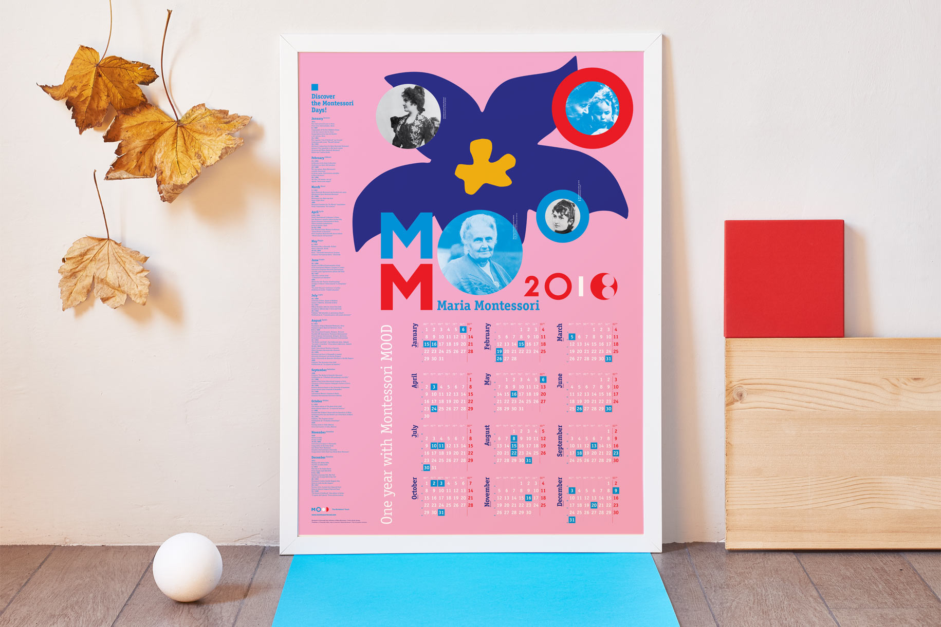 2018 Biographical Montessori poster-calendar